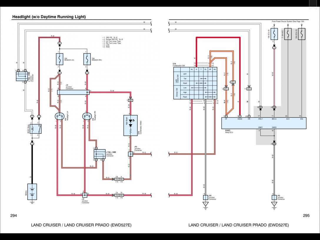 Low Beam not working - Toyota Prado How To's, Technical Information &  Reviews   Spotlight Wiring Diagram Prado      Toyota Prado Forums