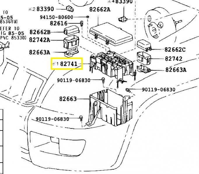 How do I get to main engine bay fuse/relay box connections