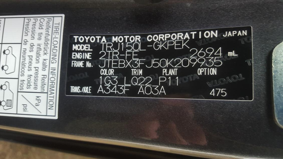 Toyota Vin Decoder >> Somebody Hepl Me To Read This Vin Number Please